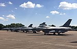F-16s, (2x Norwegian, 2x Danish & 1x Dutch), RIAT 2018 (43741763121).jpg