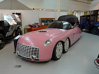 FAB 1 as re-imagined for the 2004 film FAB 1 'Thunderbirds' car in the British Motor Museum, Gaydon, Warwickshire.jpg