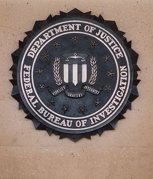 Symbols of the Federal Bureau of Investigation - Image: FBI HQ Sign
