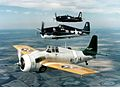 FM Wildcat F6F Hellcat and F8F Bearcat warbirds in flight.jpg