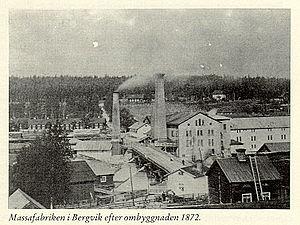 Carl Daniel Ekman - The Bergvik paper mill in 1872.