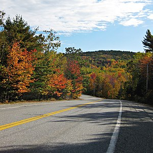 Maine State Route 102 - SR 102 passing through Acadia National Park