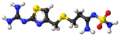 Famotidine ball-and-stick model.png