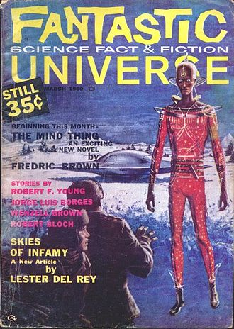 """Jorge Luis Borges bibliography - An English translation of """"El brujo postergado"""" was published in Fantastic Universe in 1960 as """"The Rejected Sorcerer"""""""