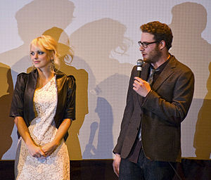 Observe and Report - Anna Faris and Seth Rogen fielding questions at the film's premiere at the 2009 South by Southwest Festival