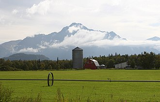 Economy of Alaska - A farm in the Matanuska Valley.