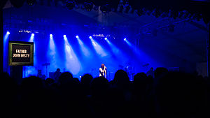 Josh Tillman - Father John Misty performing at Bonnaroo Music Festival in 2013