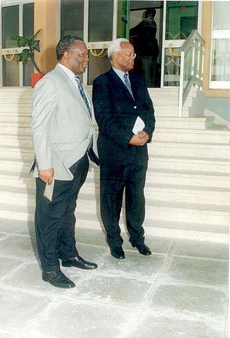 Edward Lowassa - Lowassa (right).