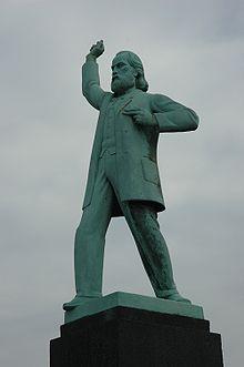 Estatua de Nieuwenhuis en Ámsterdam.