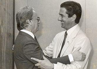 Itamar Franco - Franco with President Fernando Collor de Mello