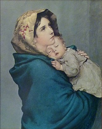 Madonnina (painting) - The Madonna of the Streets by Roberto Ferruzzi