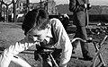 Fiú biciklivel, 1957. Fortepan 19765.jpg