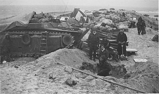 Battle of the Scheldt - A Canadian field hospital on a Walcheran Dyke