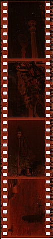A strip of four color negatives on 35 mm film Filmstrip.jpg