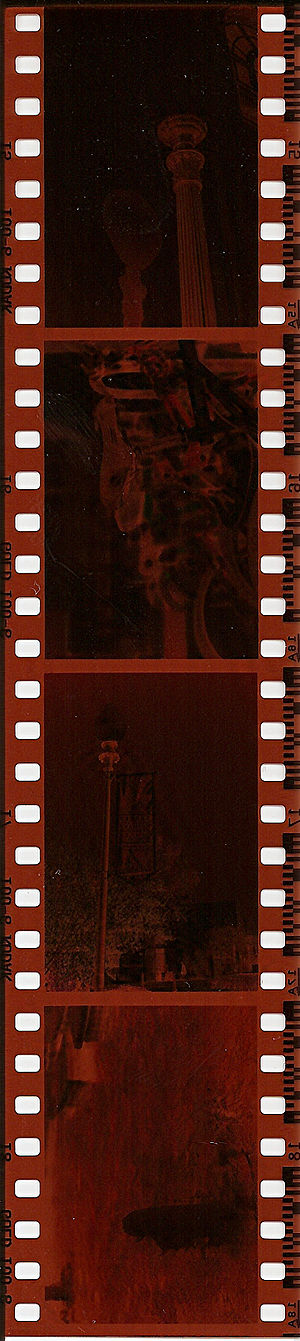 English: A scan of a filmstrip made by me of s...