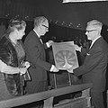 Filmweek in Arnhem geopend door minister Vrolijk in Rembrandttheater, minister V, Bestanddeelnr 917-8632.jpg
