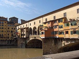 Arch bridge - The Ponte Vecchio, Florence, Italy (1345)
