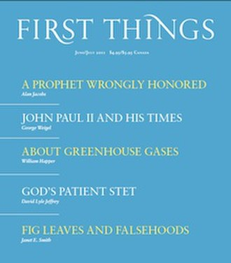 First Things - Image: First Things Cover