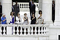 First lady Michelle Obama, right, renders honors during the 145th annual Memorial Day observance at the Memorial Amphitheater at Arlington National Cemetery in Arlington, Va., May 27, 2013 130527-A-LR102-543.jpg
