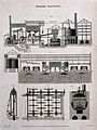 Five labelled sections through parts of a porter brewery. En Wellcome V0019360.jpg