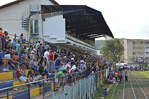 CSM Flacăra Moreni - Flacăra Moreni supporters during the 2016 promotion match against Voința Crevedia.