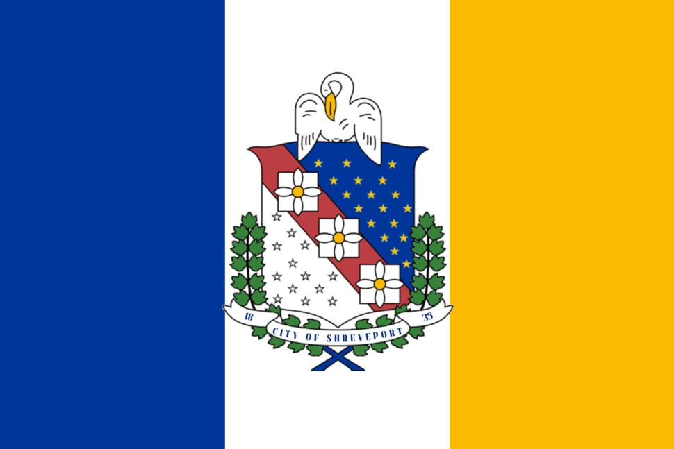 Flag of Shreveport, Louisiana