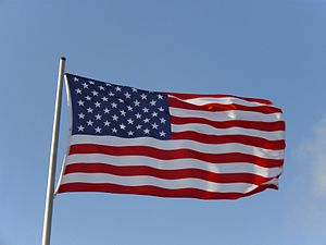 English: Flag of the United States of America ...