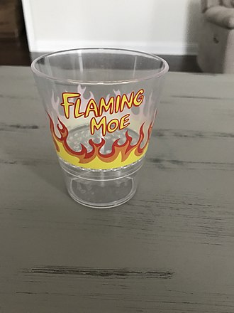 The Simpsons (franchise) - Image: Flaming Moe Glass