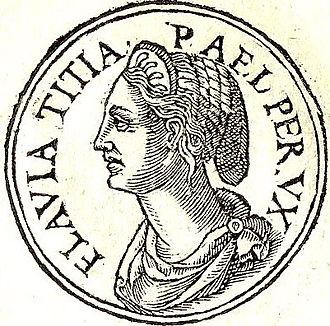 Flavia Titiana - Flavia Titiana from Promptuarii Iconum Insigniorum