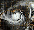 Flickr - Official U.S. Navy Imagery - A GOES-13 infrared satellite image of Tropical Storm Isaac in the Gulf of Mexico..jpg