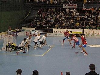 Salibandyliiga - Regular season game between Classic and SPV in the 2009-10 season.
