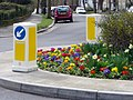 Floral Display on Roundabout, Chase Road, London N14 - geograph.org.uk - 1778474.jpg