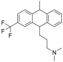 Skeletal formula of fluotracen