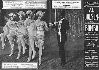 J. C. Huffman - Flyer for the Al Jolson vehicle Bombo (1921) staged by J.C. Huffman