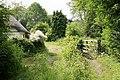 Footbridge and ford across River Ebble, Stockbridge Cottage, Coombe Bissett - geograph.org.uk - 194286.jpg