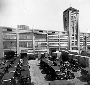 Ford Motor Argentina - The first Ford assembly plant in La Boca, Buenos Aires, c. 1921.