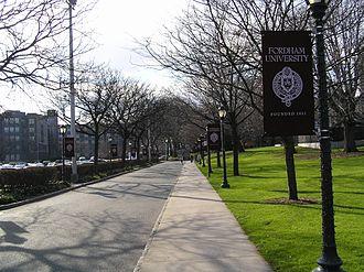 Campuses of Fordham University - Main entrance to Fordham University, Rose Hill campus.