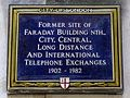 Former site of Faraday Building Nth City Central long distance and international telephone exchanges 1902 to 1982.jpg