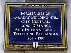 Former site of faraday building nth city central long distance and international telephone exchanges 1902 to 1982
