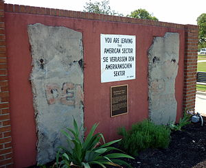 Fort Gordon - Fort Gordon's display of sections of the Berlin Wall