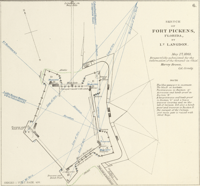 File:Fort Pickens map 1861.png