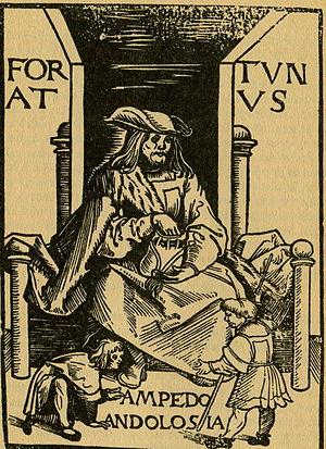 Old Fortunatus - Image: Fortunatus Titelbild der Ausgabe 1509 (Augsburg)