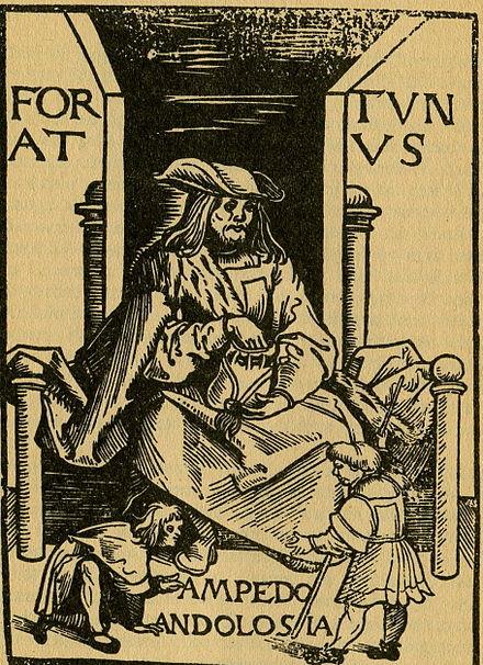 Titulní list německého vydání Fortunata z roku 1509. 1ddc786e9d
