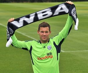 Ben Foster (footballer) - Foster at his presentation as a West Bromwich Albion player in 2011