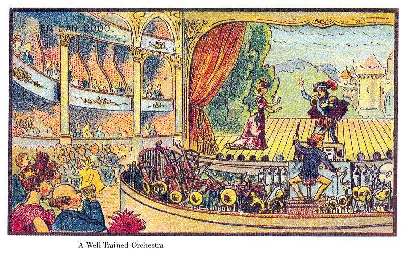 Image from the 19th century series on the world in the year 2000