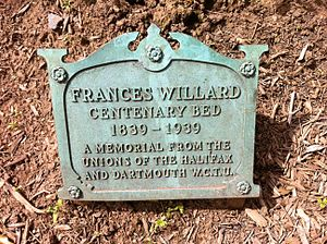 Local Council of Women of Halifax - Frances Willard plaque and flower bed by the Halifax and Dartmouth Woman's Christian Temperance Union (1939), Halifax Public Gardens