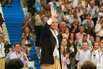 Francisco Camps en el XII Congreso del Partido Popular de la Comunidad Valenciana