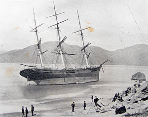 Ships lost in San Francisco - Frank Jones off Fort Point in 1877