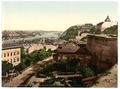 Franz Joseph's Bridge, looking towards the bridge, Budapest, Hungary, Austro-Hungary-LCCN2002710863.tif