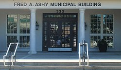 Ashy Municipal Building is named for former Kinder Mayor Fred A. Ashy
